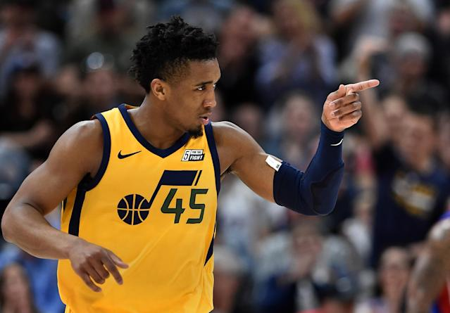 Donovan Mitchell is averaging 20.3 points this season. (Getty Images)