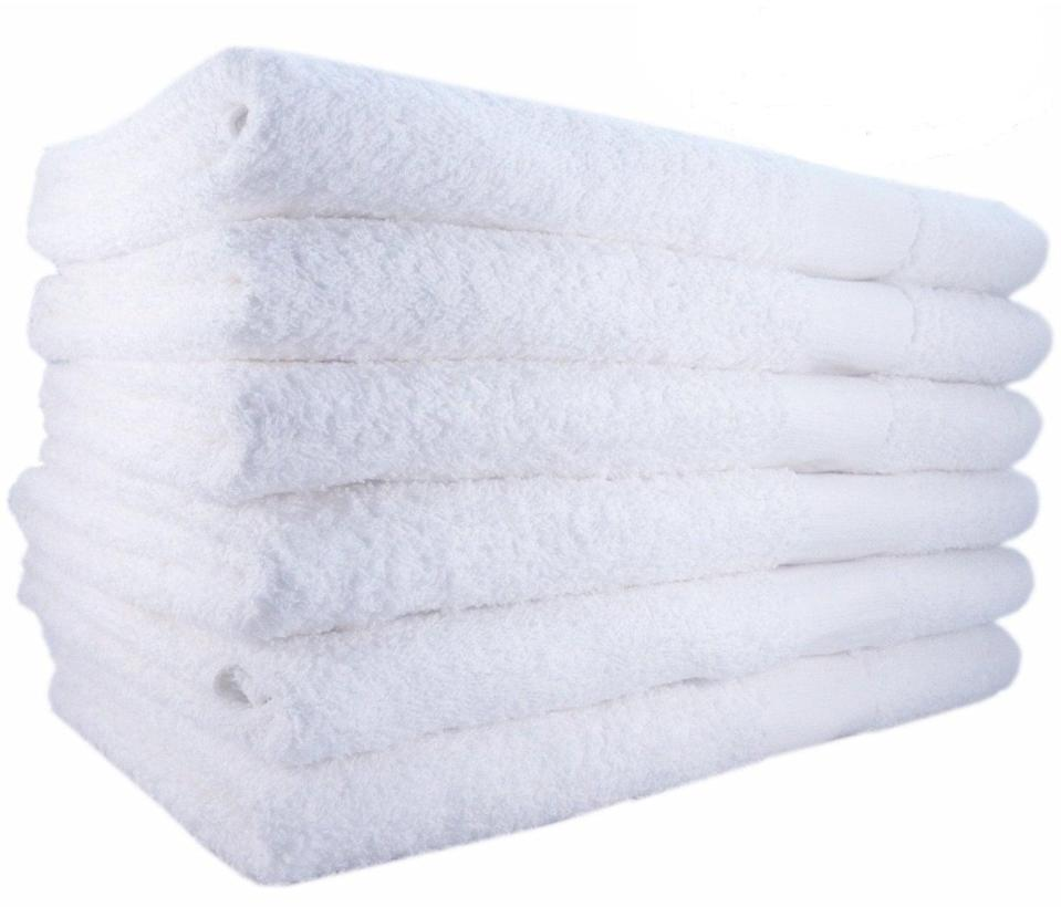 <p>This set of six <span>Mimaatex Brand 100 Percent Cotton Bath Towels</span> ($33) will dry you off quickly and hold up over time.</p>