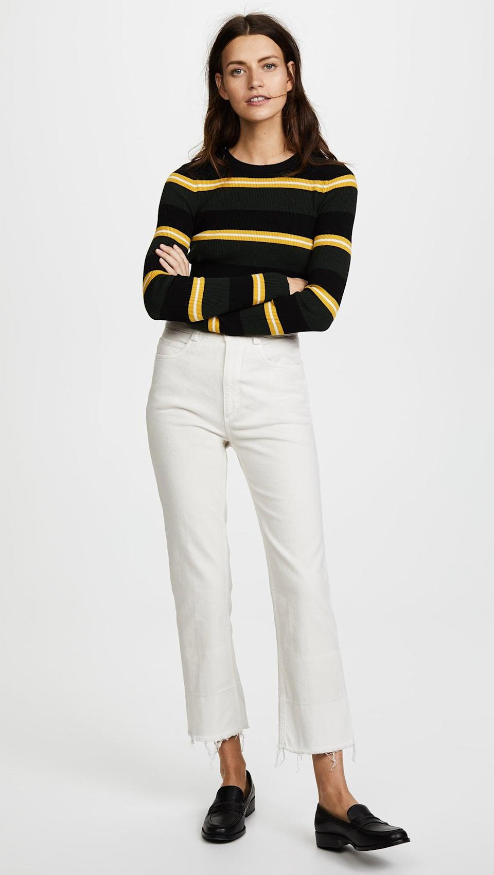 """<p>""""I may not reach for my <span>Rachel Comey Slim Legion Jeans</span> ($345) as often as my more classic styles, but they're hands down the most comfortable (and forgiving!) jeans in my closet. The non-restricting straight-leg cut certainly helps, but it's actually the insane softness of the denim I love most. When I first slipped into them, I couldn't believe how soft and lightweight the fabric felt. You know your favorite sweatshirt that gets softer with each wash? That's what these jeans feel like."""" - Stephanie Nguyen, Native Editor, Style</p>"""