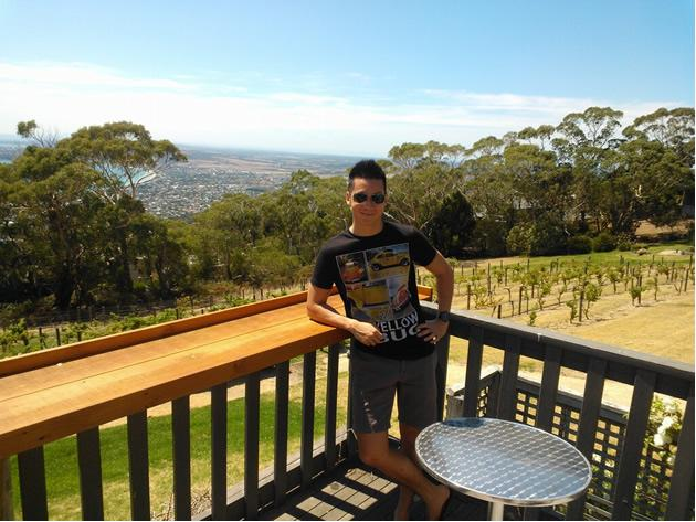 Joshua Tan tweeted this photo within the first few days he arrived in Melbourne (Twitter photo)