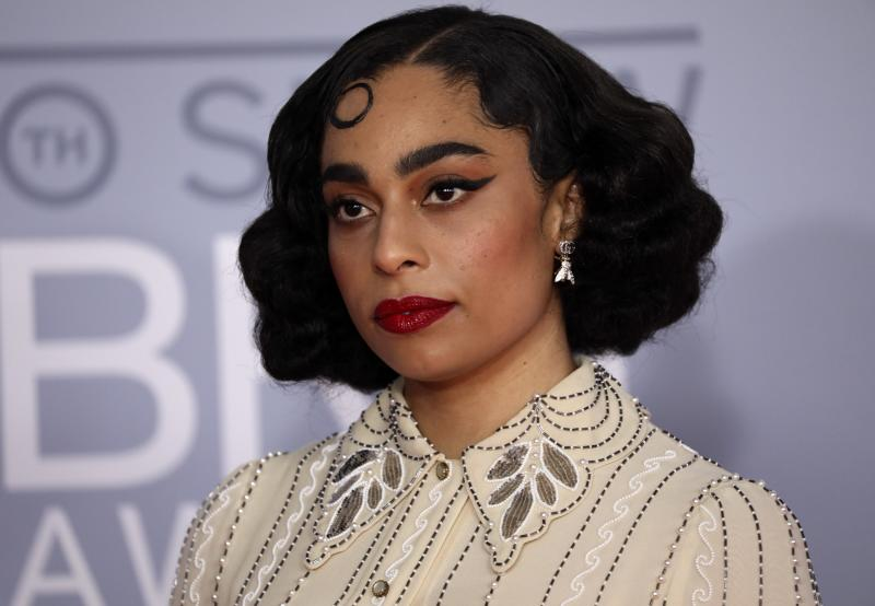 Celeste poses for photographers upon arrival at Brit Awards 2020 in London, Tuesday, Feb. 18, 2020.(Photo by Vianney Le Caer/Invision/AP)