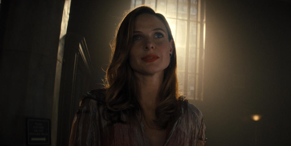 """This image released by Warner Bros. Pictures shows Rebecca Ferguson in a scene from """"Reminiscence."""" (Warner Bros. Pictures via AP)"""