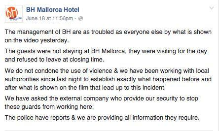 This is the statement that alleges that the hotel doesn't