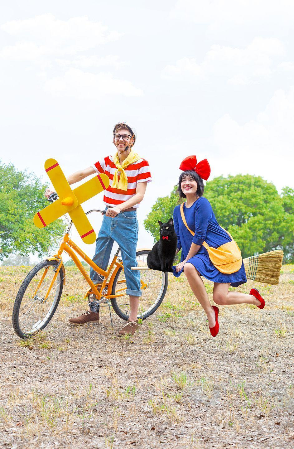 """<p>Love Studio Ghibli films? This adorable costume idea has you dressing up as Kiki from <em><a href=""""https://www.amazon.com/Kikis-Delivery-Service-English-Language/dp/B0812B2MQ9?tag=syn-yahoo-20&ascsubtag=%5Bartid%7C10055.g.34292032%5Bsrc%7Cyahoo-us"""" rel=""""nofollow noopener"""" target=""""_blank"""" data-ylk=""""slk:Kiki's Delivery Service"""" class=""""link rapid-noclick-resp"""">Kiki's Delivery Service</a></em>, complete with her signature blue dress and red bow. (Bonus points if you have a broomstick and a black cat, too!)</p><p><em><a href=""""http://www.awwsam.com/2019/10/kikis-delivery-service-costumes.html"""" rel=""""nofollow noopener"""" target=""""_blank"""" data-ylk=""""slk:Get the tutorial at Aww Sam »"""" class=""""link rapid-noclick-resp"""">Get the tutorial at Aww Sam »</a></em></p>"""