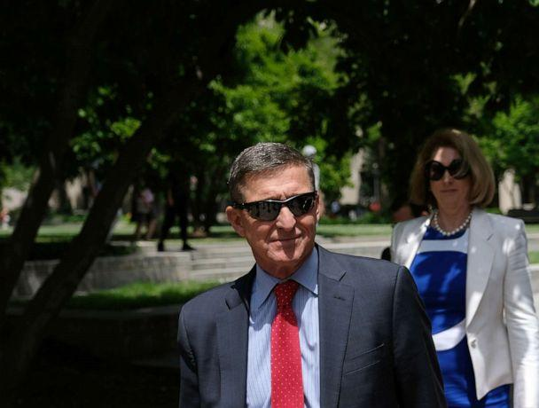 PHOTO: Former National Security Adviser Michael Flynn leaves the E. Barrett Prettyman U.S. Courthouse on June 24, 2019 in Washington, D.C. (Alex Wroblewski/Getty Images, FILE)
