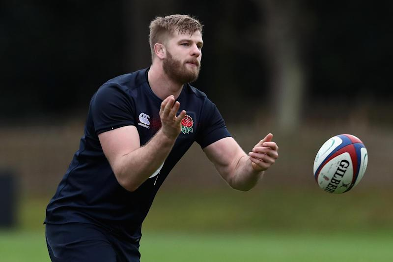 Kruis training with England in November: Getty Images