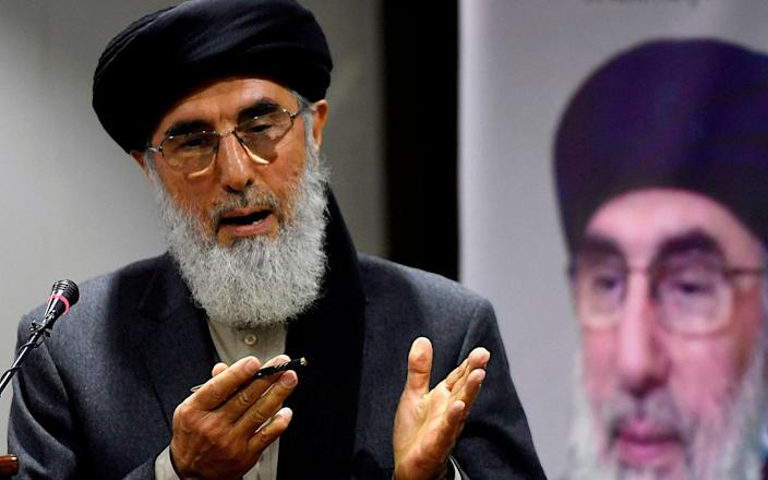 Gulbuddin Hekmatyar gained the nickname 'the Butcher of Kabul' by raining down rockets on the Afghan capital in the early 1990s - AAMIR QURESHI/AFP