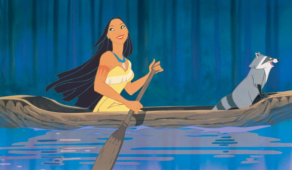 """<a href=""""http://movies.yahoo.com/movie/1800240415/info"""">Pocahontas</a>  Grade: A++    Pocahontas is the Angelina Jolie of the Disney princess set. Her asymmetrical fringe-bedecked frock rocks, accessorized brilliantly with trendy turquoise baubles and cuddly sidekick."""