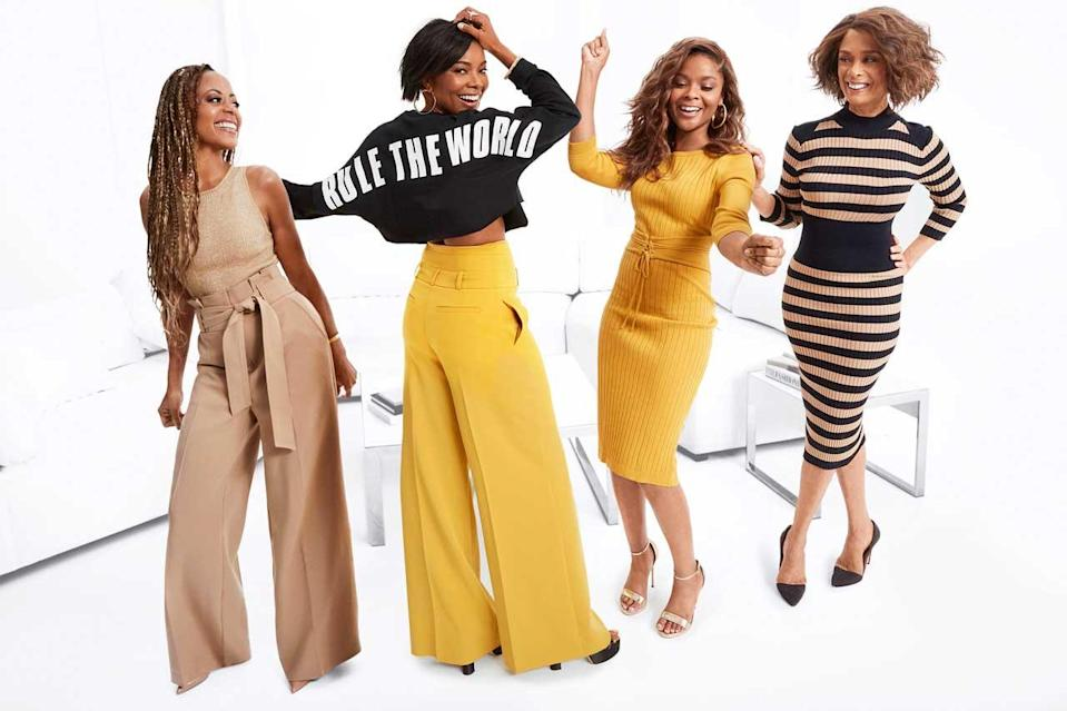 From left: Essence Uhura Atkins, Gabrielle Union, Ajiona Alexus, and Valarie Pettiford in the new Gabrielle Union Collection #AllTogetherNow for New York & Company. (Photo: Courtesy of New York & Company)