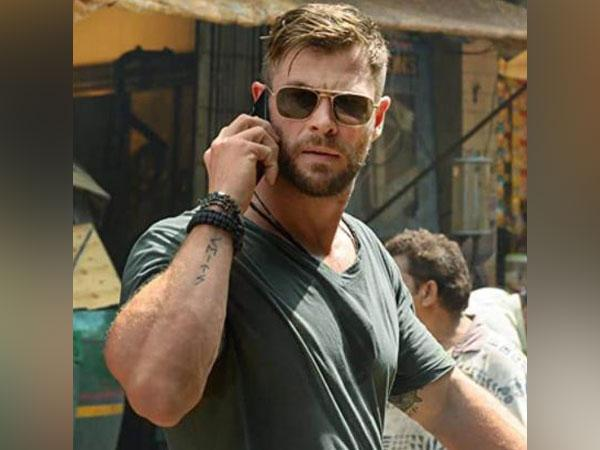 Chris Hemsworth in a still from 'Extraction' (Image source: Instagram)