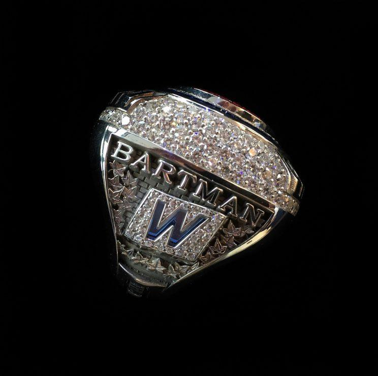 The Cubs presented a 2016 World Series ring to Steve Bartman. (Chicago Cubs)