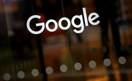 FILE PHOTO: The Google logo is pictured at the entrance to the Google offices in London, Britain January 18, 2019. REUTERS/Hannah McKay