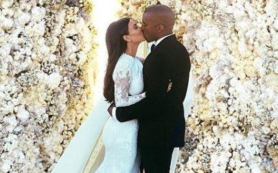 The famous Instagram picture of Kim Kardashian and Kanye West's wedding in 2014 - Instagram
