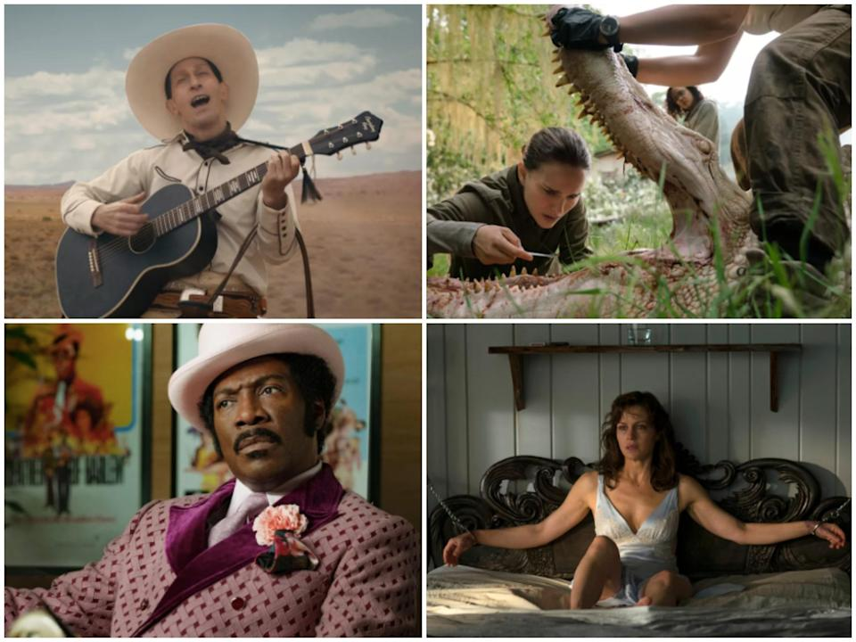 'The Ballad of Buster Scruggs', 'Annihilation', 'Dolemite Is My Name' and 'Gerald's Game' are among the best original films to watch on Netflix (Netflix)