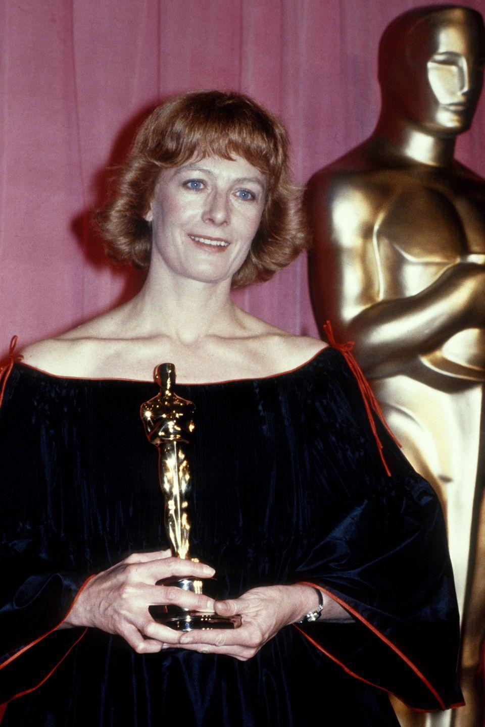 """<p>Redgrave won for her role in <em><a href=""""https://www.amazon.com/Julia-Jane-Fonda/dp/B07B37BGQ7/ref=sr_1_2?s=instant-video&ie=UTF8&qid=1547582719&sr=1-2&keywords=Julia&tag=syn-yahoo-20&ascsubtag=%5Bartid%7C10055.g.5148%5Bsrc%7Cyahoo-us"""" rel=""""nofollow noopener"""" target=""""_blank"""" data-ylk=""""slk:Julia"""" class=""""link rapid-noclick-resp"""">Julia</a></em><span class=""""redactor-invisible-space"""">, which was based on a memoir by Lillian Hellman about her friend who helped fight Nazis during WWII. But many thought that Hellman had fabricated the entire story. To further complicate things, Redgrave had recently produced and narrated a pro-Palestine documentary. This angered many people, who called Redgrave anti-Semitic and encouraged the Academy not to vote for her.</span></p>"""