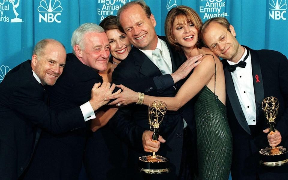 The cast of Frasier at the 1998 Emmy Awards - Getty/AFP