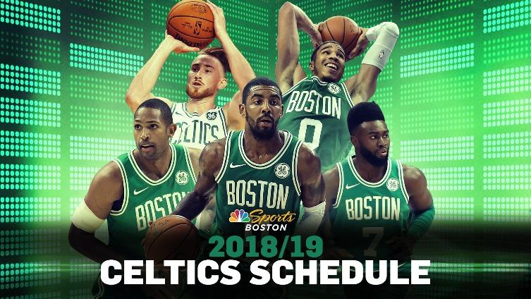 2018 19 Boston Celtics Schedule