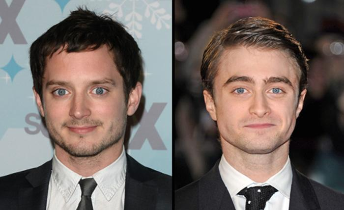 "<p class=""MsoNormal""><span style=""font-size:10pt;font-family:Times;"">Elijah Wood and Daniel Radcliff</span></p><span style=""font-size:10pt;font-family:Times;"">Have you ever noticed that these two guys-- both leading men of magical/fantasy film franchises— have the same intense stare?</span>  <p class=""MsoNormal"" style=""""><span style=""font-size:10.0pt;font-family:Times;"">(Photo: Stuart Wilson/Getty; Jason LaVeris/FilmMagic)</span></p>"