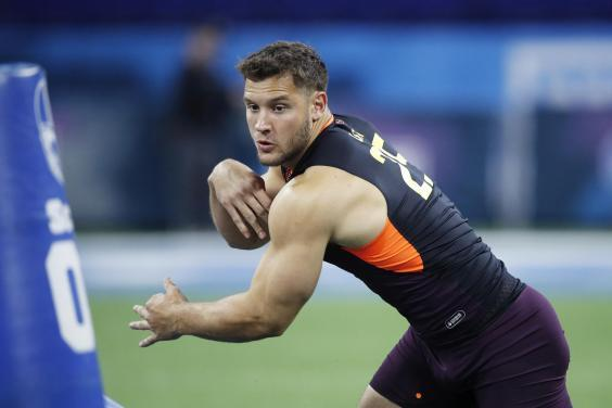 Nick Bosa is an impressive athlete and joins his brother Joey in the NFL (Getty)