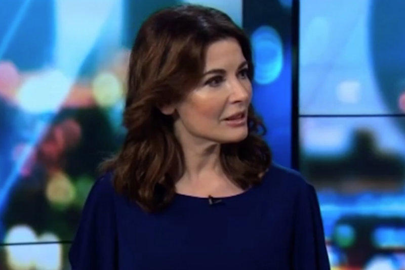Not impressed: Nigella shut down suggestions of innuendo during an awkward TV appearance (Network Ten)