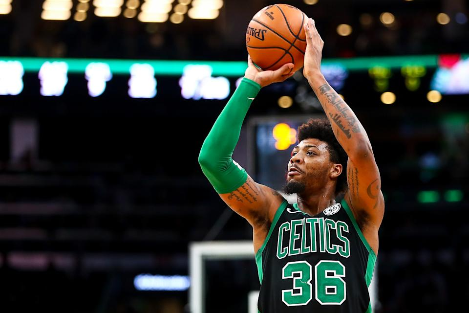 After fighting an infection in both eyes for weeks, Marcus Smart finally returned to the floor for the Celtics on Saturday night.