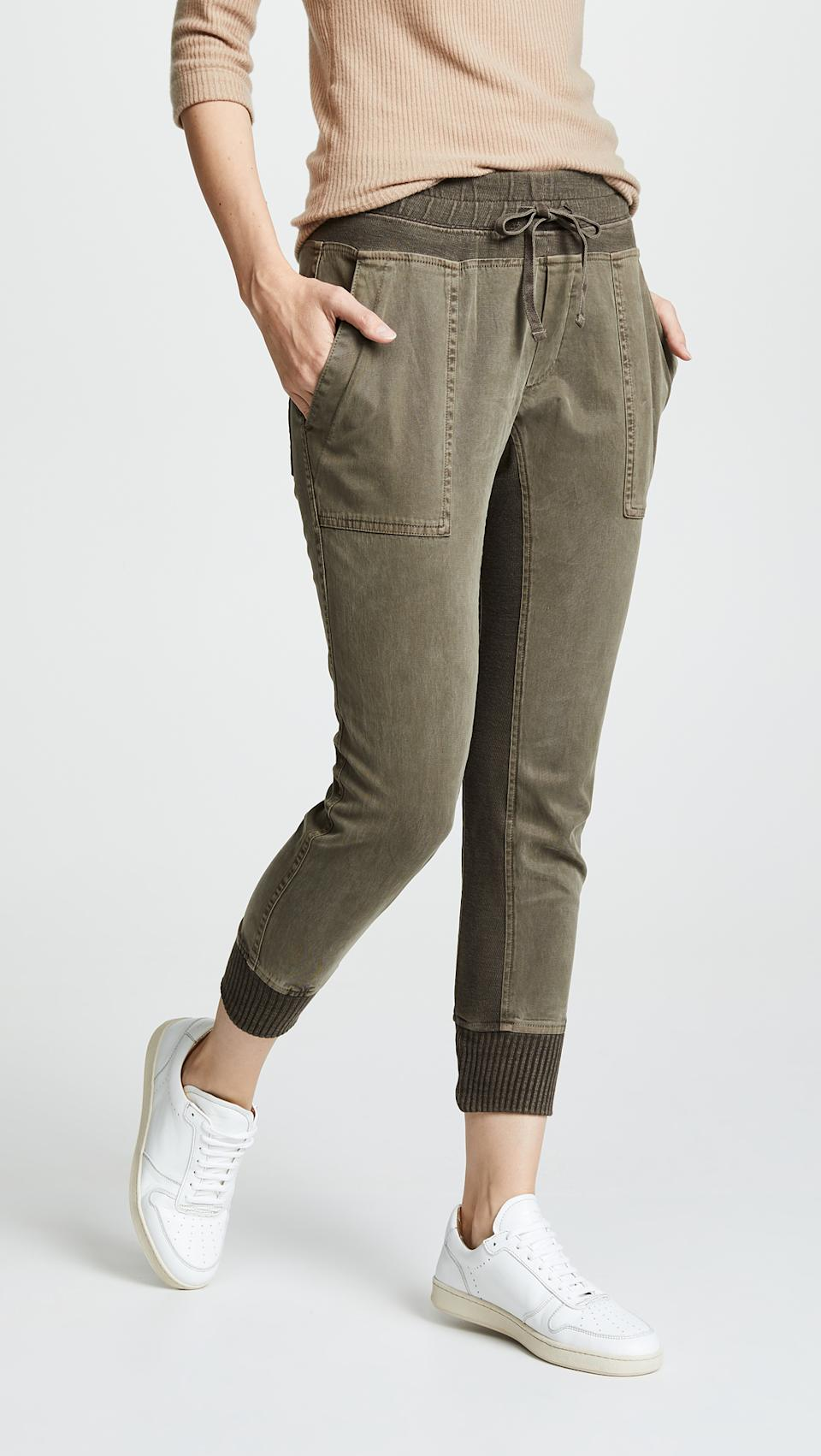 James Perse Mixed Media Pants, as seen on Meghan Markle, are on sale for Black Friday at Shopbop when you use code SHOP20 at checkout.