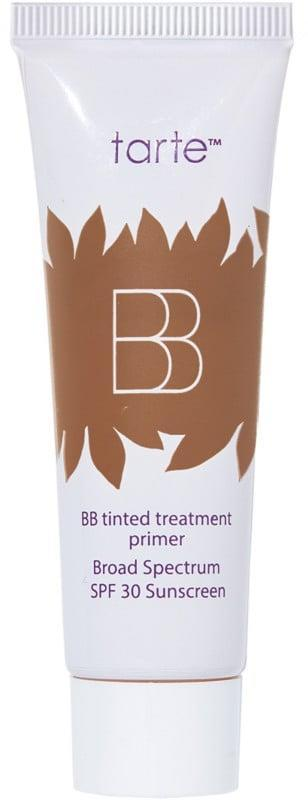 <p>The <span>Tarte Travel Size BB Tinted Treatment 12 Hour Primer Broad Spectrum SPF 30</span> ($15) can help you maintain coverage and protection all day long.</p>
