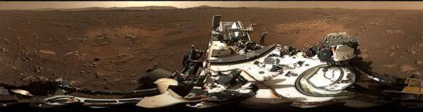 PHOTO: This is the first 360-degree panorama taken by Mastcam-Z, a zoomable pair of cameras aboard NASA's Perseverance Mars rover. (NASA/JPL-Caltech/MSSS/ASU)
