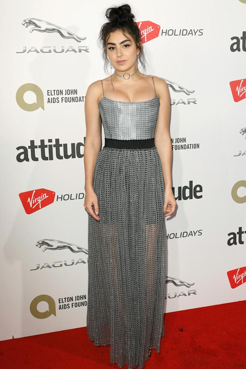 Pop star power: Charli XCX poses on the red carpet (Getty Images)
