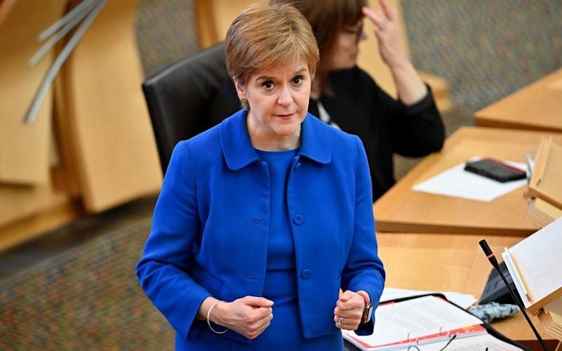 Nicola Sturgeon has announced a ban on indoor visits to other households - PA