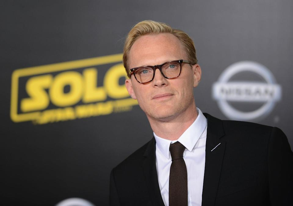 LOS ANGELES, CA - MAY 10:  Actor Paul Bettany arrives for the Premiere Of Disney Pictures And Lucasfilm's