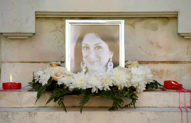 One of Malta's most prominent public figures, Daphne Caruana Galizia became well-known thanks to a blog she used to expose crime and corruption in the small but economically booming nation (AFP Photo/Matthew Mirabelli)