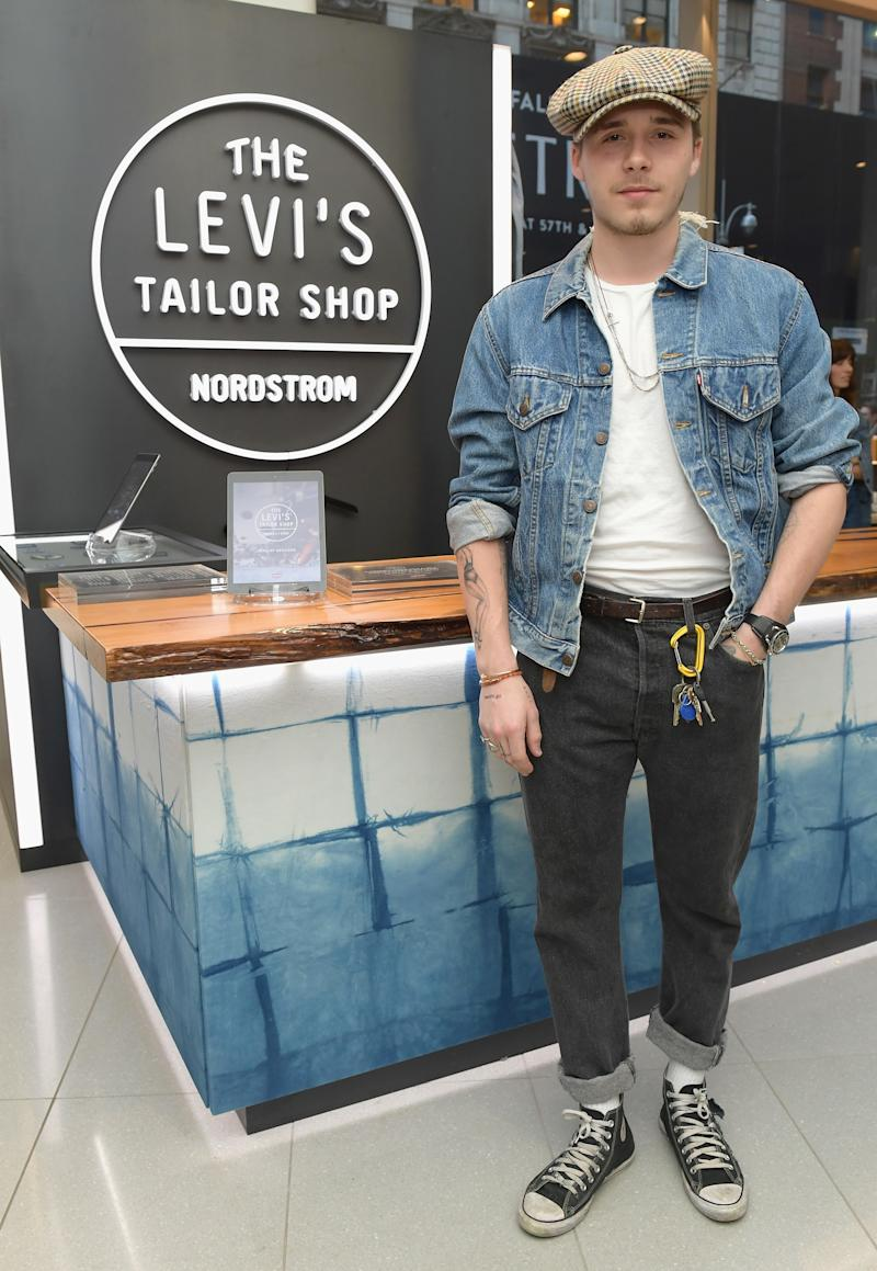 Brooklyn Beckham attends Levi's Tailor Shop Launch Event At Nordstrom Men's Store NYC.
