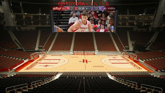 The Houston Rockets' massive new scoreboard will be the ...