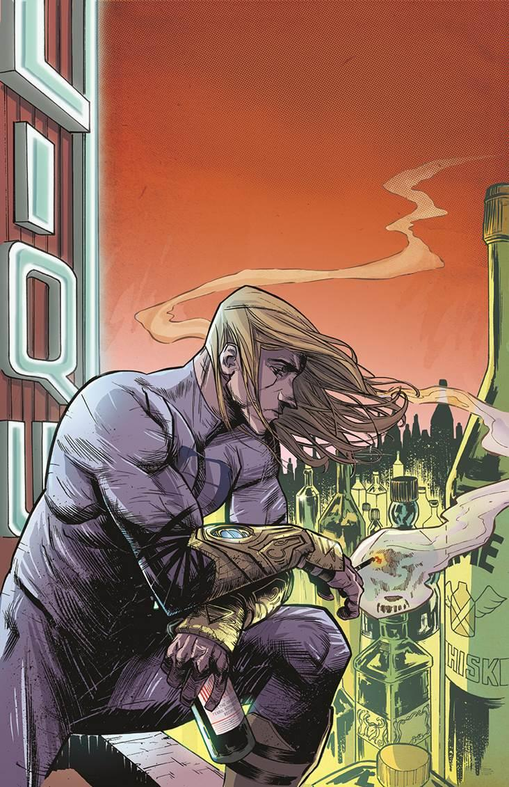 """This image provided by Dark Horse Comics shows Ruben, the protagonist in Donny Cates' and Mark Reznicek's """"Buzzkill"""" . Cates called the four-part mini-series, out Wednesday, Sept. 18, 2013 and illustrated by artist Geoff Shaw and colored by Lauren Affe, a sobering look at the relationship between power and addiction and """"the very real consequences of both"""" on a person and their livelihood. (AP Photo/Dark Horse Comics)"""