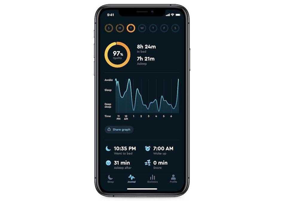 """<p><a href=""""https://apps.apple.com/us/app/sleep-cycle-sleep-tracker/id320606217"""" rel=""""nofollow noopener"""" target=""""_blank"""" data-ylk=""""slk:DOWNLOAD NOW"""" class=""""link rapid-noclick-resp"""">DOWNLOAD NOW</a></p><p>Perhaps the best way to get a good night's rest is to understand why you haven't been getting a good night's rest. Sleep Cycle records your sleep patterns and detects possible disruptions—snoring, sleep talking, and coughing, for example. It also has a smart alarm clock designed to gently wake you when you're not in a deep sleep to minimize disruption and grogginess. </p>"""