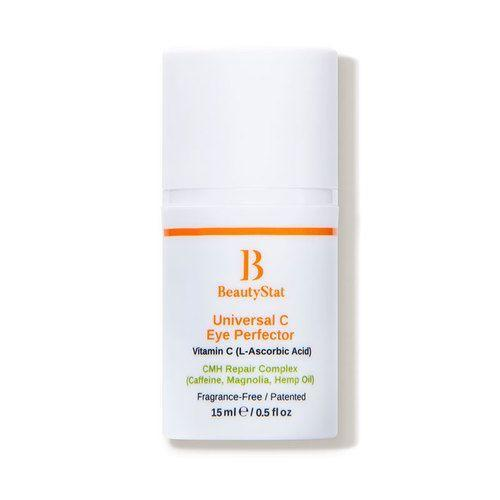 """<p><strong>BeautyStat Cosmetics</strong></p><p>dermstore.com</p><p><a href=""""https://go.redirectingat.com?id=74968X1596630&url=https%3A%2F%2Fwww.dermstore.com%2Fproduct_Universal%2BC%2BEye%2BPerfector_85331.htm&sref=https%3A%2F%2Fwww.marieclaire.com%2Fbeauty%2Fg35685017%2Fdermstore-beauty-refresh-sale%2F"""" rel=""""nofollow noopener"""" target=""""_blank"""" data-ylk=""""slk:Shop Now"""" class=""""link rapid-noclick-resp"""">Shop Now</a></p><p><strong><del>$65</del> $52 (20% off)</strong></p><p>BeautyStat's <a href=""""https://www.elle.com/beauty/a34849644/best-products-2020-future-beauty-awards/"""" rel=""""nofollow noopener"""" target=""""_blank"""" data-ylk=""""slk:award-winning"""" class=""""link rapid-noclick-resp"""">award-winning</a> Universal C Eye Perfector is an industry game-changer for combining CBD with Vitamin C. Together, this makes for a powerful brightening-but-calming treatment that's safe to use day or night. </p>"""