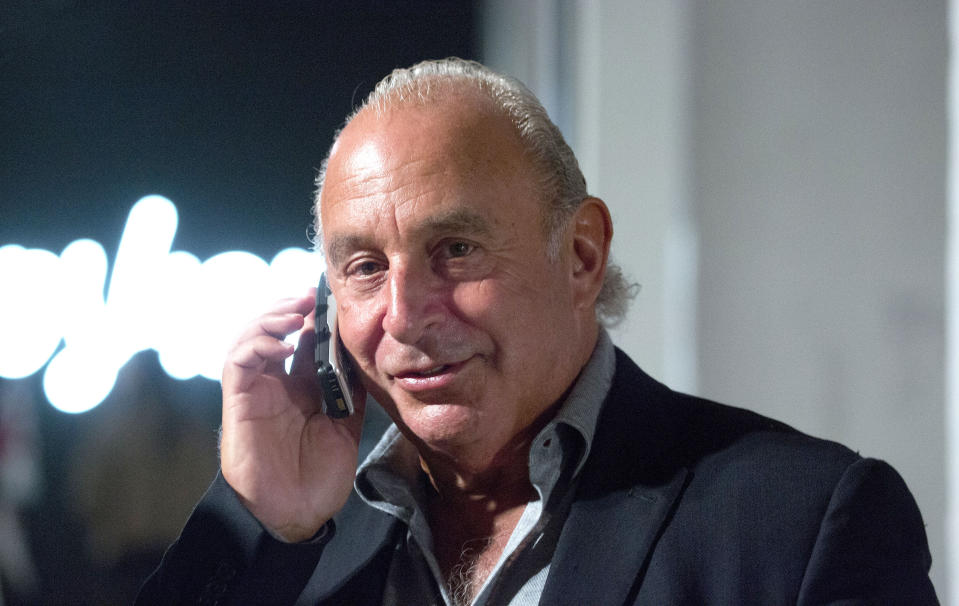 File photo dated 17/09/17 of Sir Philip Green. The retail bloodbath has continued apace as the John Lewis Partnership warned over store closures and job cuts and Sir Philip Green's Topshop empire also revealed redundancy plans.