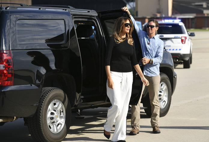 Amid Row Over Border Crisis, Melania Trump Visits Migrant Children