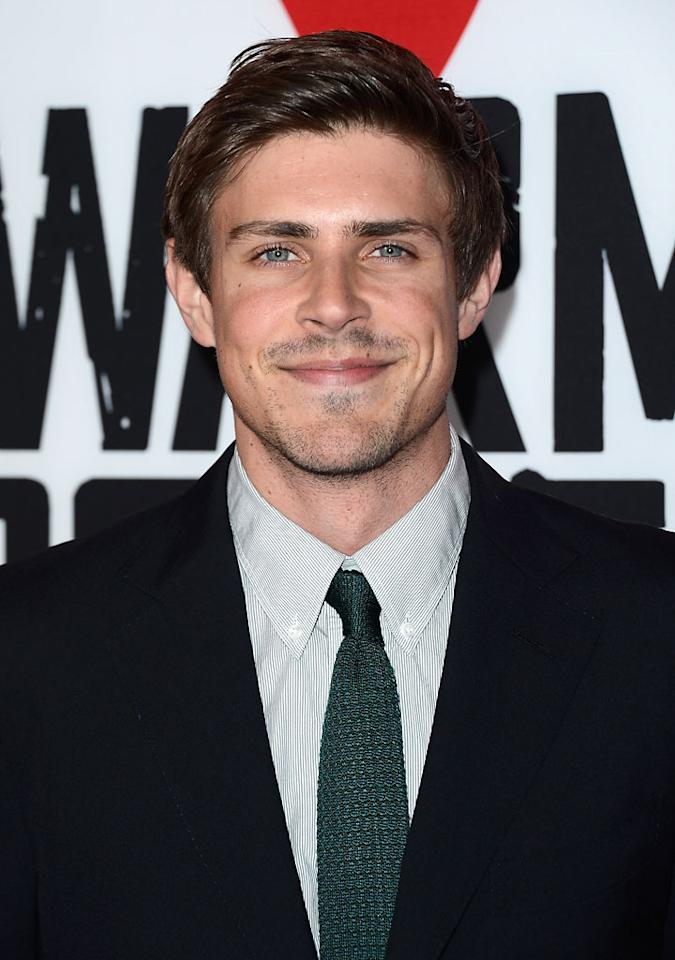 """HOLLYWOOD, CA - JANUARY 29:  Actor Chris Lowell arrives at the premiere of Summit Entertainment's """"Warm Bodies"""" at ArcLight Cinemas Cinerama Dome on January 29, 2013 in Hollywood, California.  (Photo by Frazer Harrison/Getty Images)"""