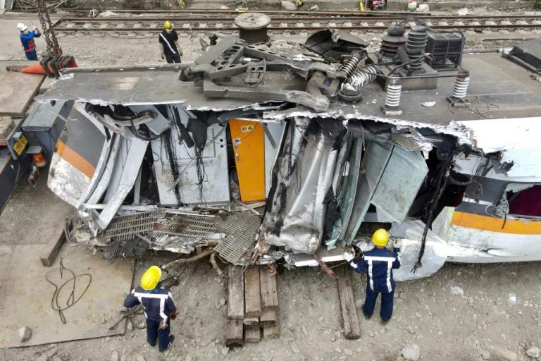 The maintenance truck that caused Friday's train crash in Taiwan was only on the tracks for just over a minute before it was hit