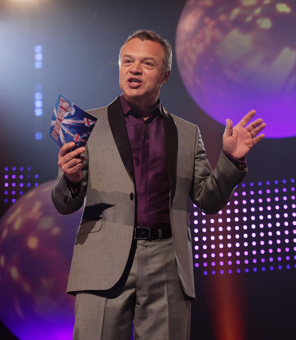Host of the show Graham Norton during BBC1's Eurovision: Your Country Needs You, filmed at BBC TV Centre in west London.   (Photo by Yui Mok/PA Images via Getty Images)