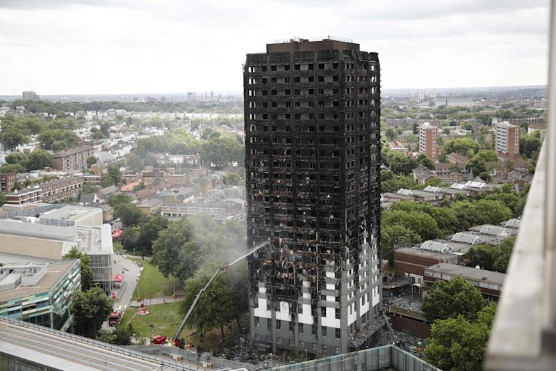 Destroyed: Grenfell Tower: AFP/Getty Images