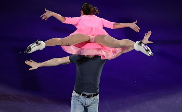 Figure Skating - Pyeongchang 2018 Winter Olympics - Gala Exhibition - Gangneung Ice Arena - Gangneung, South Korea - February 25, 2018 - Valentina Marchei and Ondrej Hotarek of Italy perform. REUTERS/Lucy Nicholson