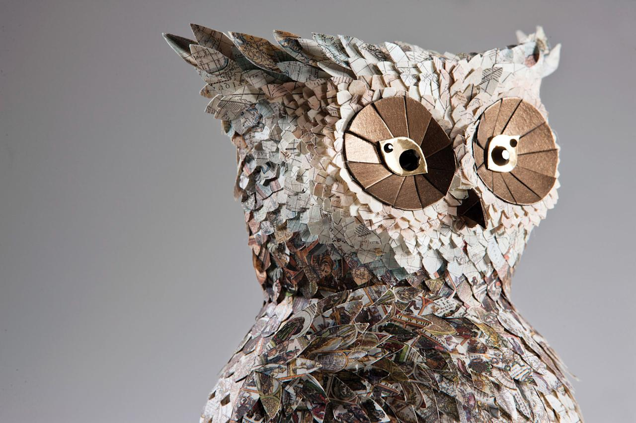 Artistic duo Julie Wilkinson and Joyanne Horscroft have been making sculptures out of paper since 2009 (Caters)