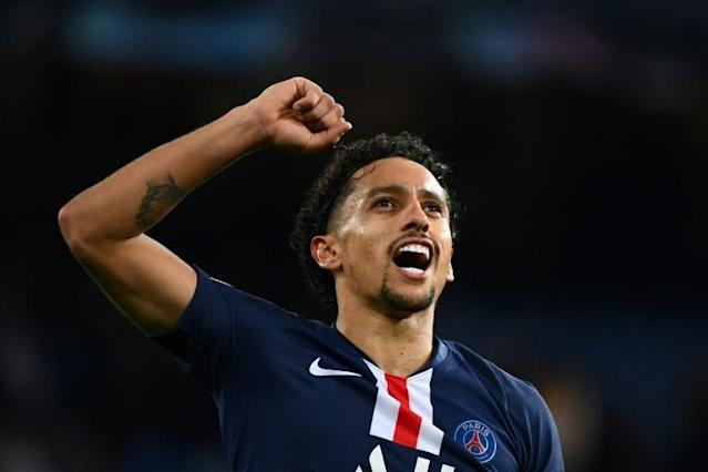 Brazilian international Marquinhos has scored 20 goals for PSG (AFP Photo/GABRIEL BOUYS )