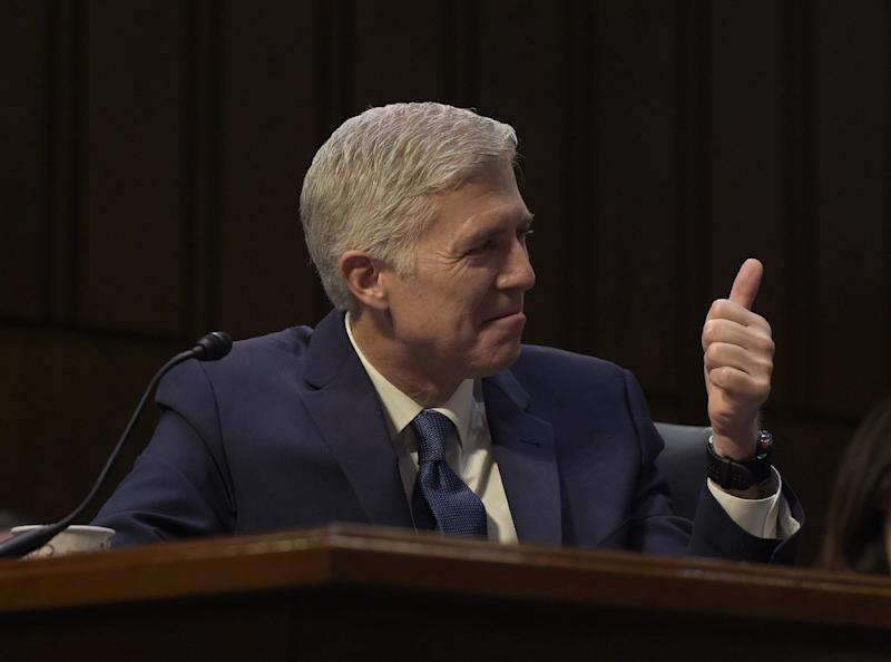 Image result for gorsuch thumbs up