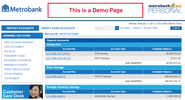 Metrobank Direct Online: Everything You Need to Know - metrobank direct demo page