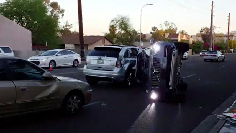 Uber's Volvo XC90 crashes in Arizona