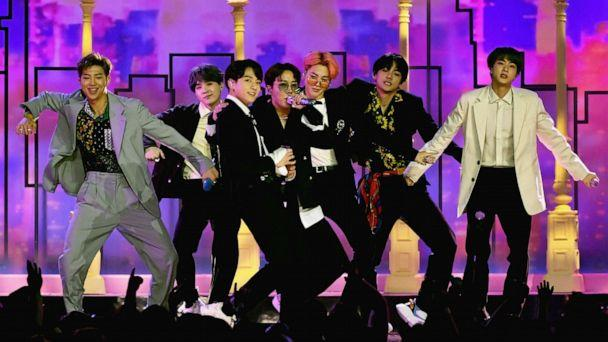 PHOTO: BTS perform onstage during the 2019 Billboard Music Awards at MGM Grand Garden Arena, May 1, 2019, in Las Vegas. (Ethan Miller/Getty Images, FILE)